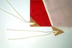 旗(アクリル)の仕立て参考画像